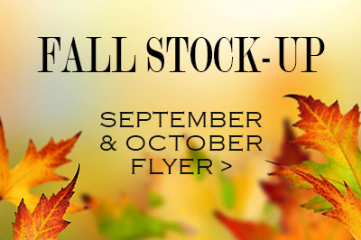 Airefco Fall Stock-up