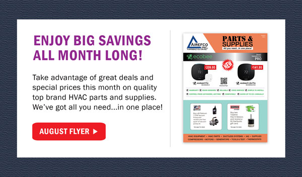 Airefco Parts and Supplies August Flyer