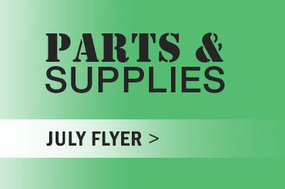 Parts and Supplies July Flyer