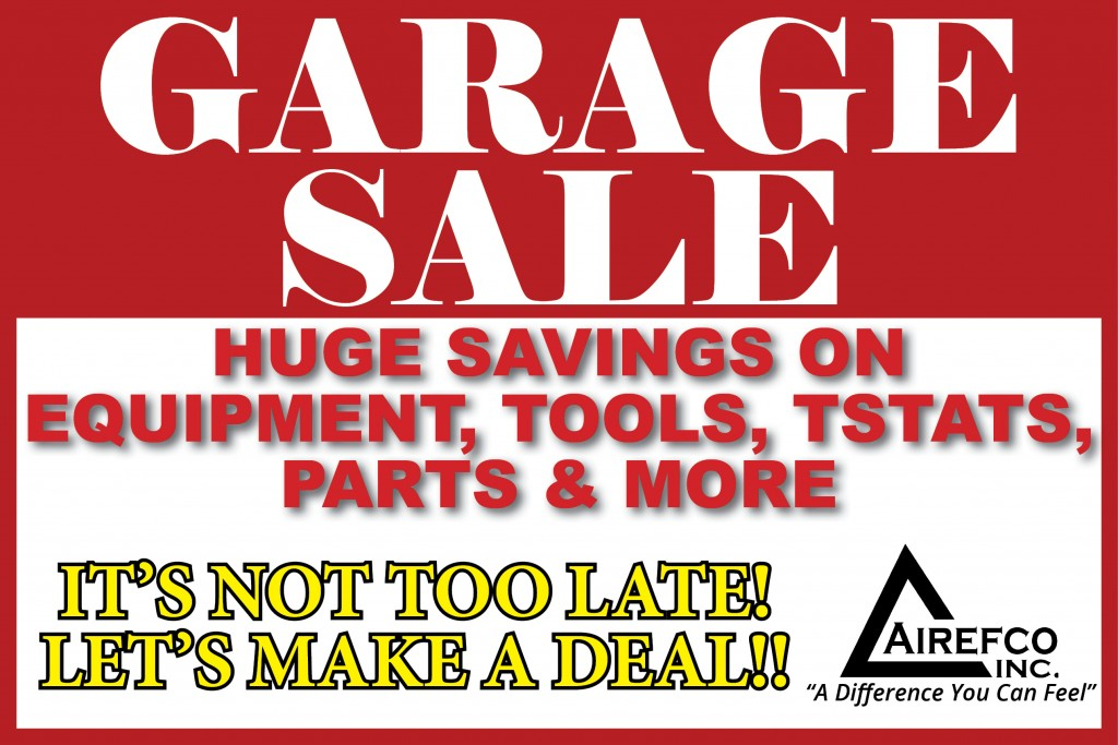 Home Page - Promotions - Garage Sale - Red Sign - Not too late