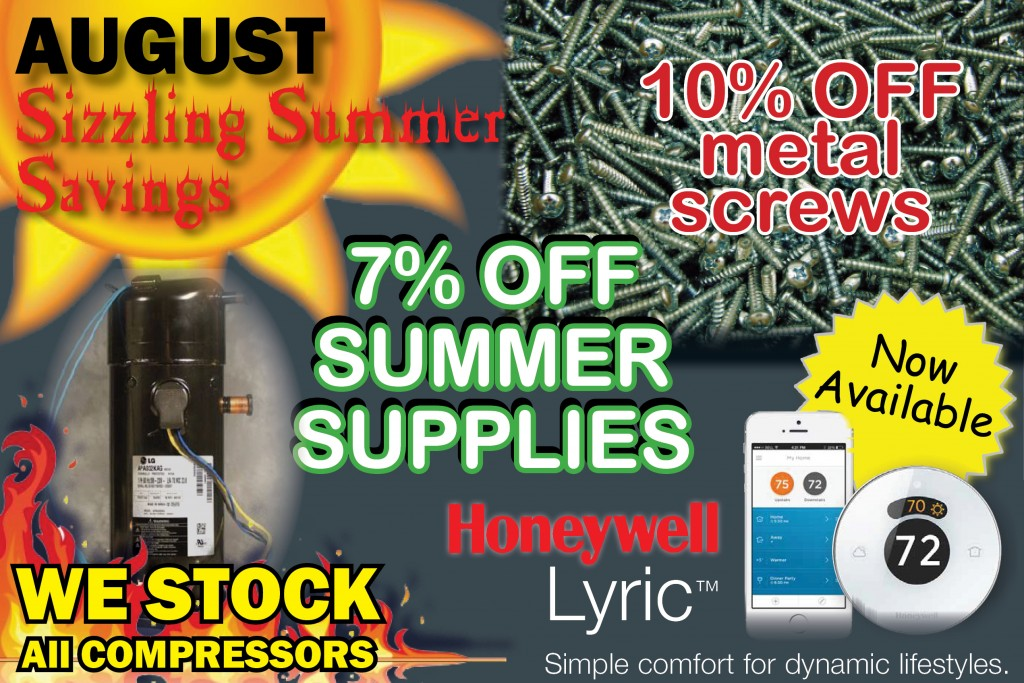 Home Page - Promotions - Parts Flyer - 08 August